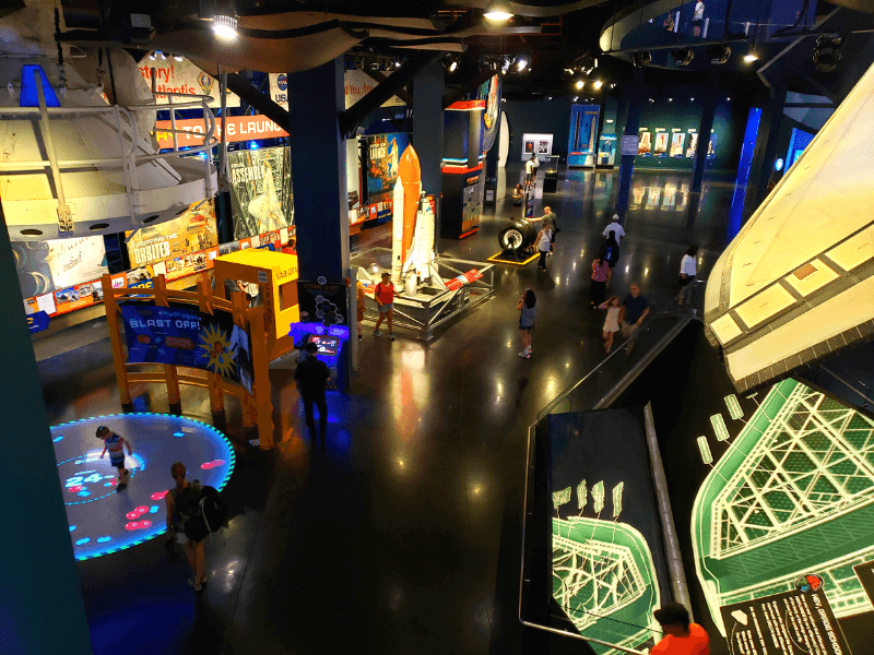Lots of exhibits inside Kennedy Space Center