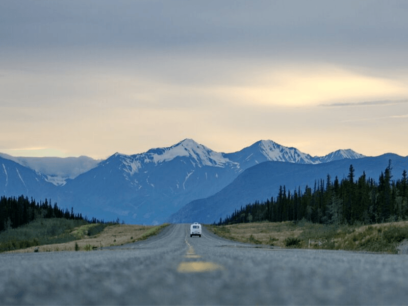 Driving, both campervans and caravans, takes some getting used to