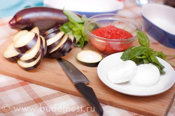 Ингредиенты для приготовления баклажанов алла Пармиджана