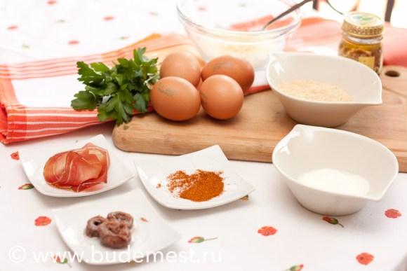 Ингредиенты для фаршированных яиц с паприкой