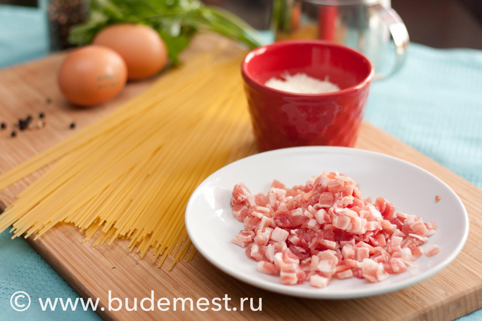Ингредиенты для приготовления Спагетти Карбонара