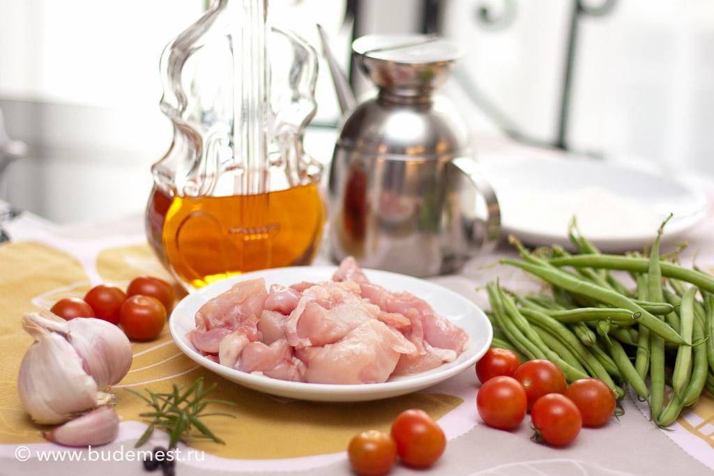 Ингредиенты для приготовления кролика со стручковой фасолью