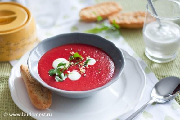 Крем суп из свеклы с йогуртом