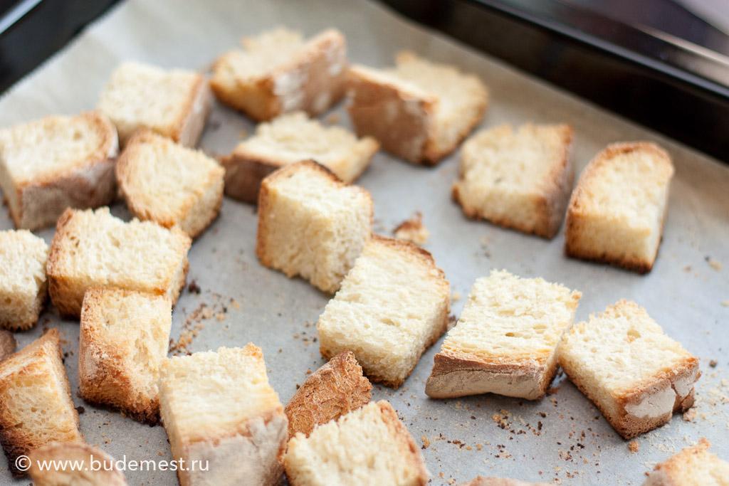 Подсушиваем хлеб в печи