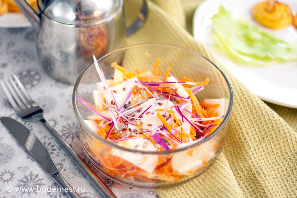 Витаминный салат с редькой