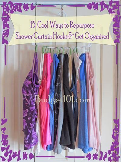 repurposing shower curtain hooks diy