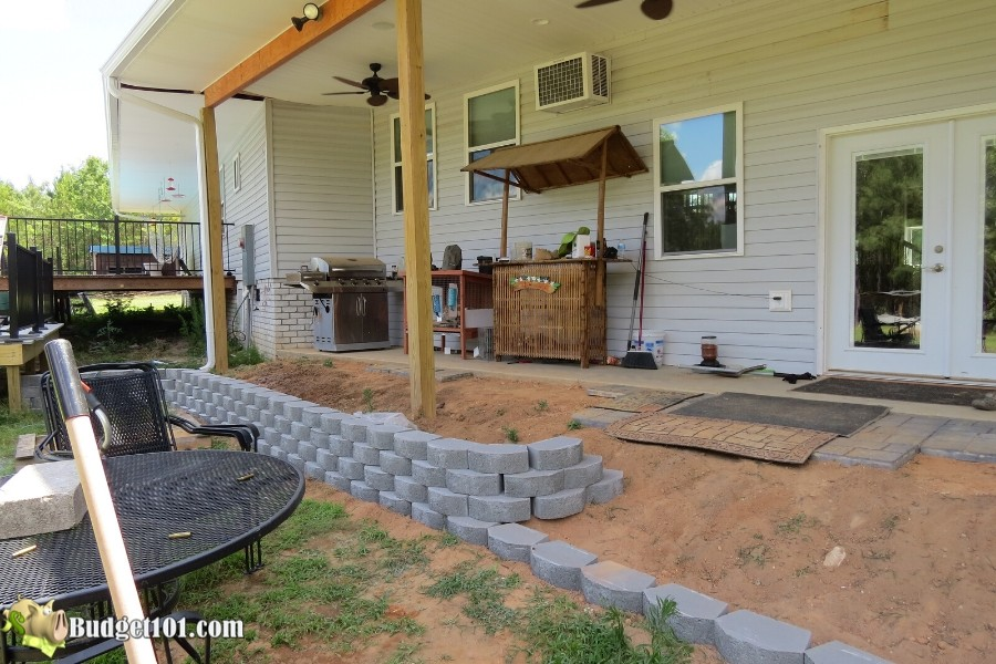 diy stamped concrete patio how to