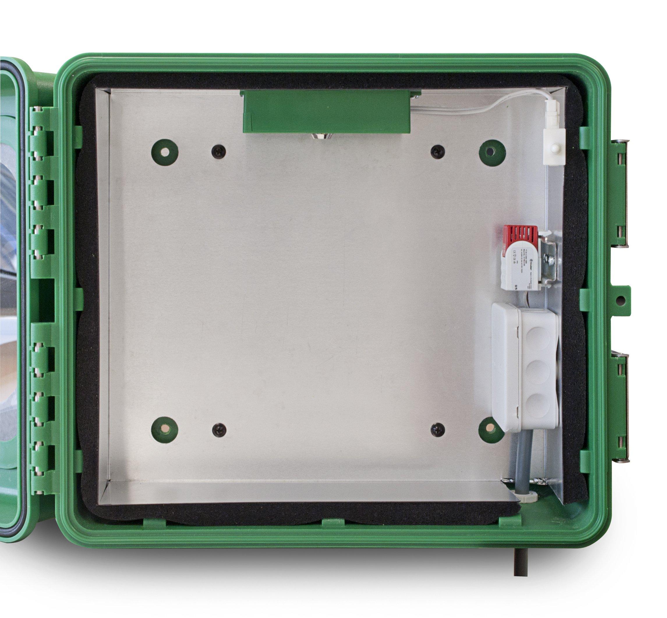Kunstof Aed Buitenkast Met Aluminium Inlay En Alarm En Verwarming