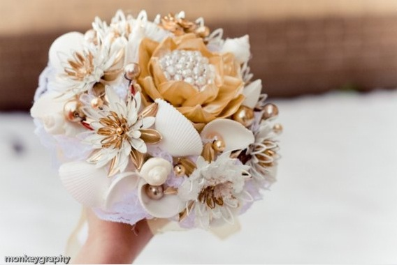 Unique Wedding Idea  Nonfloral Wedding Bouquets