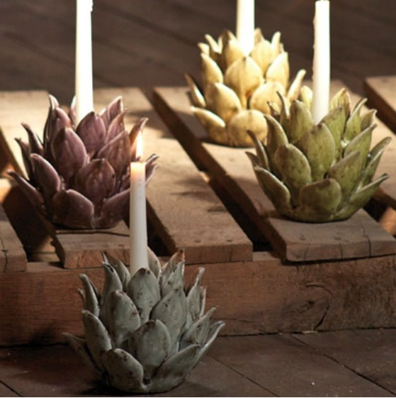 DIY Artichoke Candle Holders