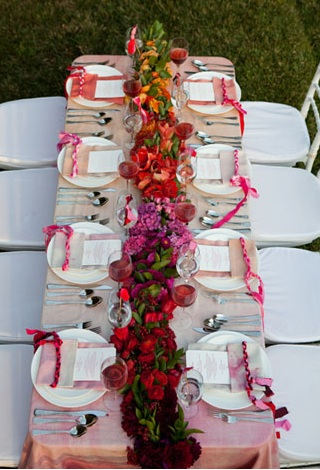 Pink And Orange Wedding Centerpieces