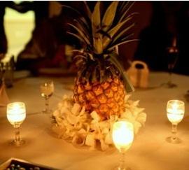Tropical Pineapple Wedding Centerpieces  A Wedding Blog