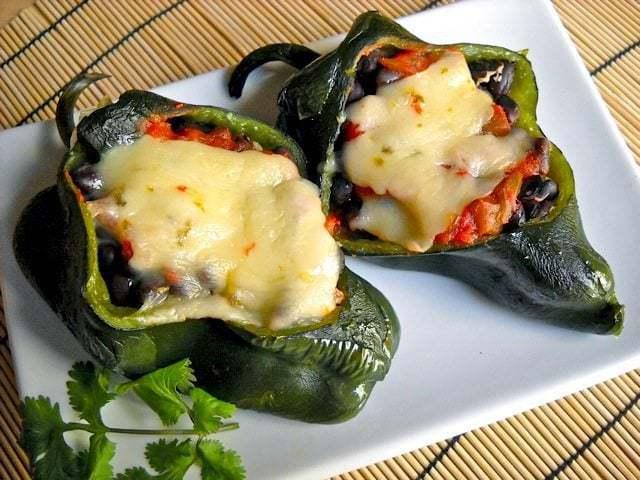 Breakfast Stuffed Poblano Peppers