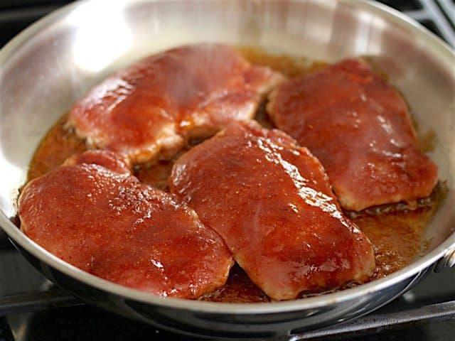 Cook Pork Chops side 1