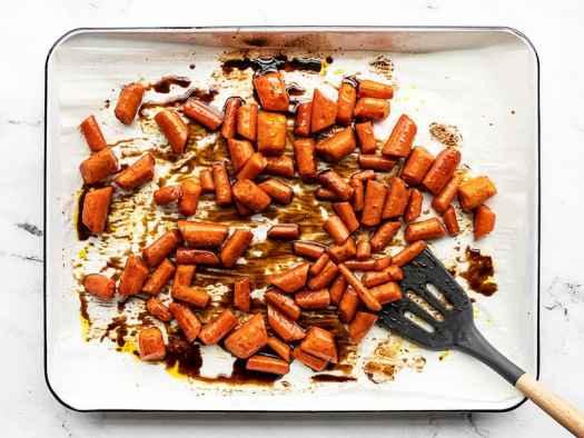 carrots tossed in honey balsamic glaze