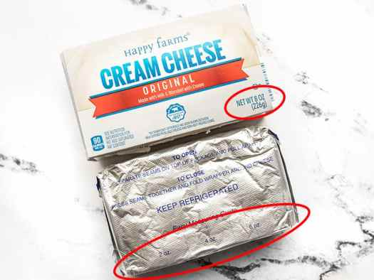 Cream Cheese Package
