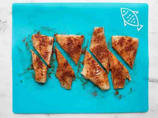 Seasoned fish fillets