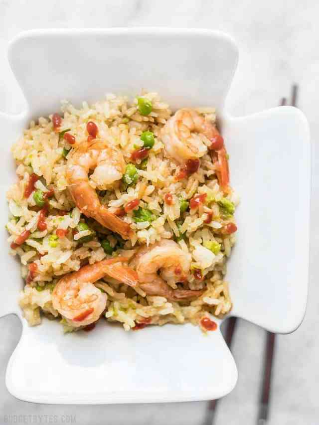 By adding a few extra ingredients to your rice cooker, you can cook an entire meal at once. This Teriyaki Shrimp and Rice is an easy and healthy alternative to take out. Budgetbytes.com