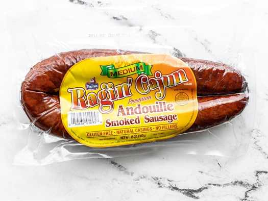 Andouille sausage package