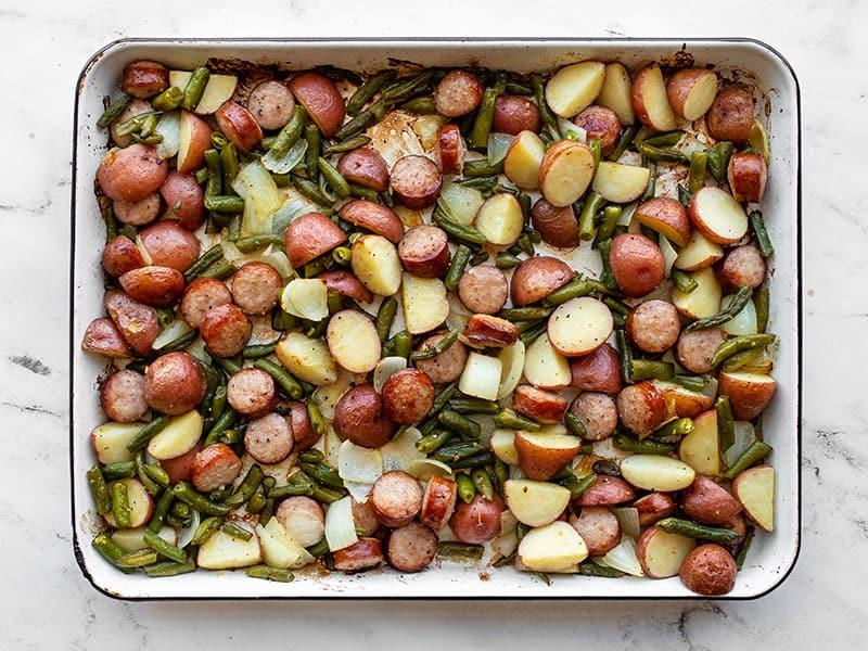 Roasted sheet pan meal
