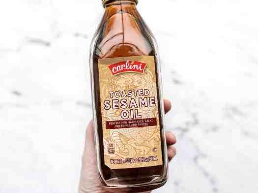 Toasted sesame oil bottle