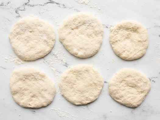 Rolled out dough rounds