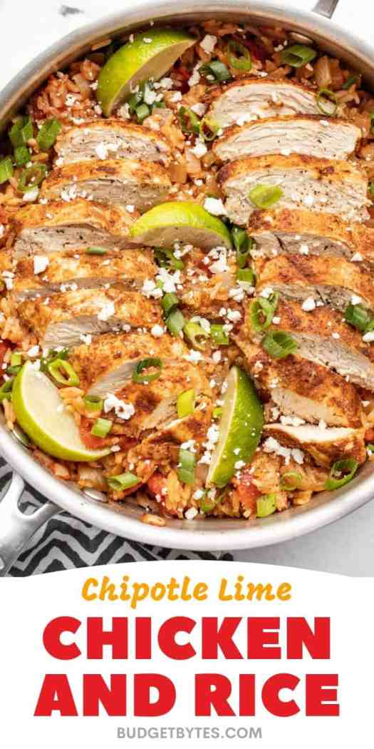 Chipotle Lime Chicken and Rice - One Pot! 2
