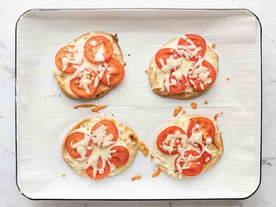 baked caprese pizzas