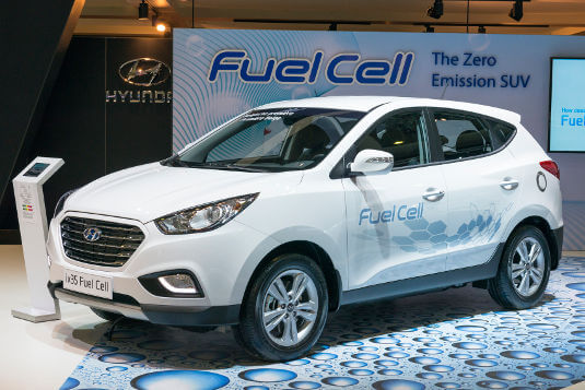 Hyundai's ix35 Fuel Cell, a family SUV, boasts an operating range of up to 594km between refuels.