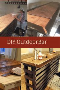 DIY Build Your Own Outdoor Bar