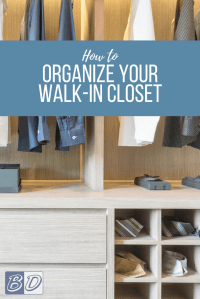 Small Walk-In Closet Organization Ideas | Budget Dumpster