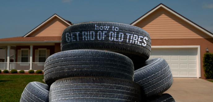 How to Get Rid of Old Tires  Budget Dumpster