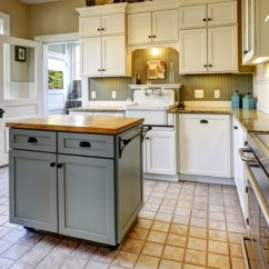 Build Kitchen Island Faucet Wall Mount How To A Diy Budget Dumpster With Butcher Block Countertop In Bright Modern