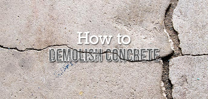 how to break up a concrete slab