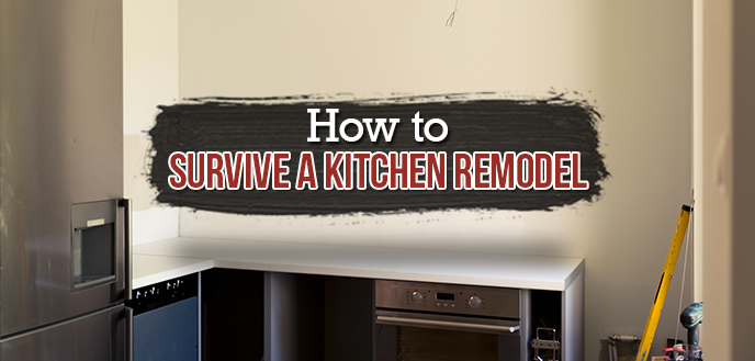 kitchen remodel budget app how to survive a dumpster during with bare walls and appliances