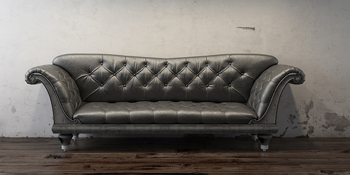 how to take apart a couch to throw away