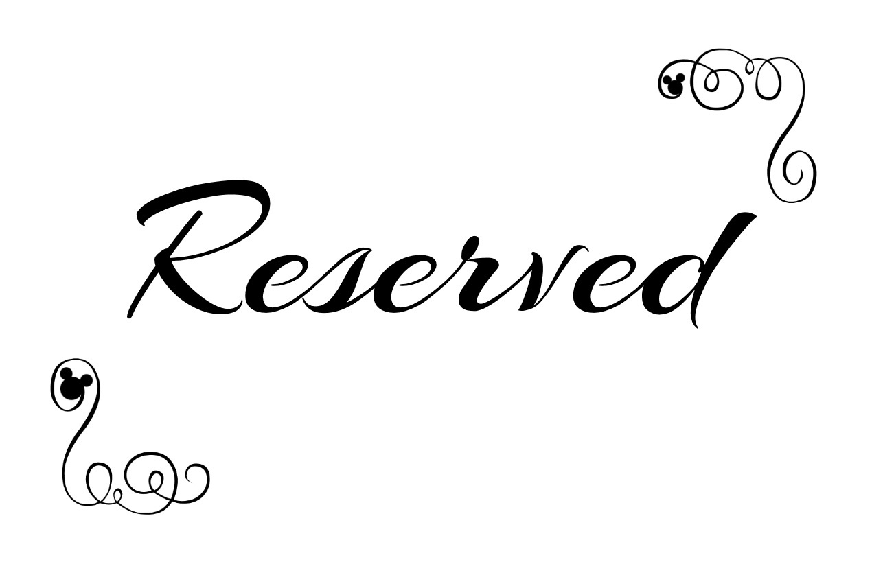 reserved signs for chairs template milo baughman lounge chair free printable seating your wedding