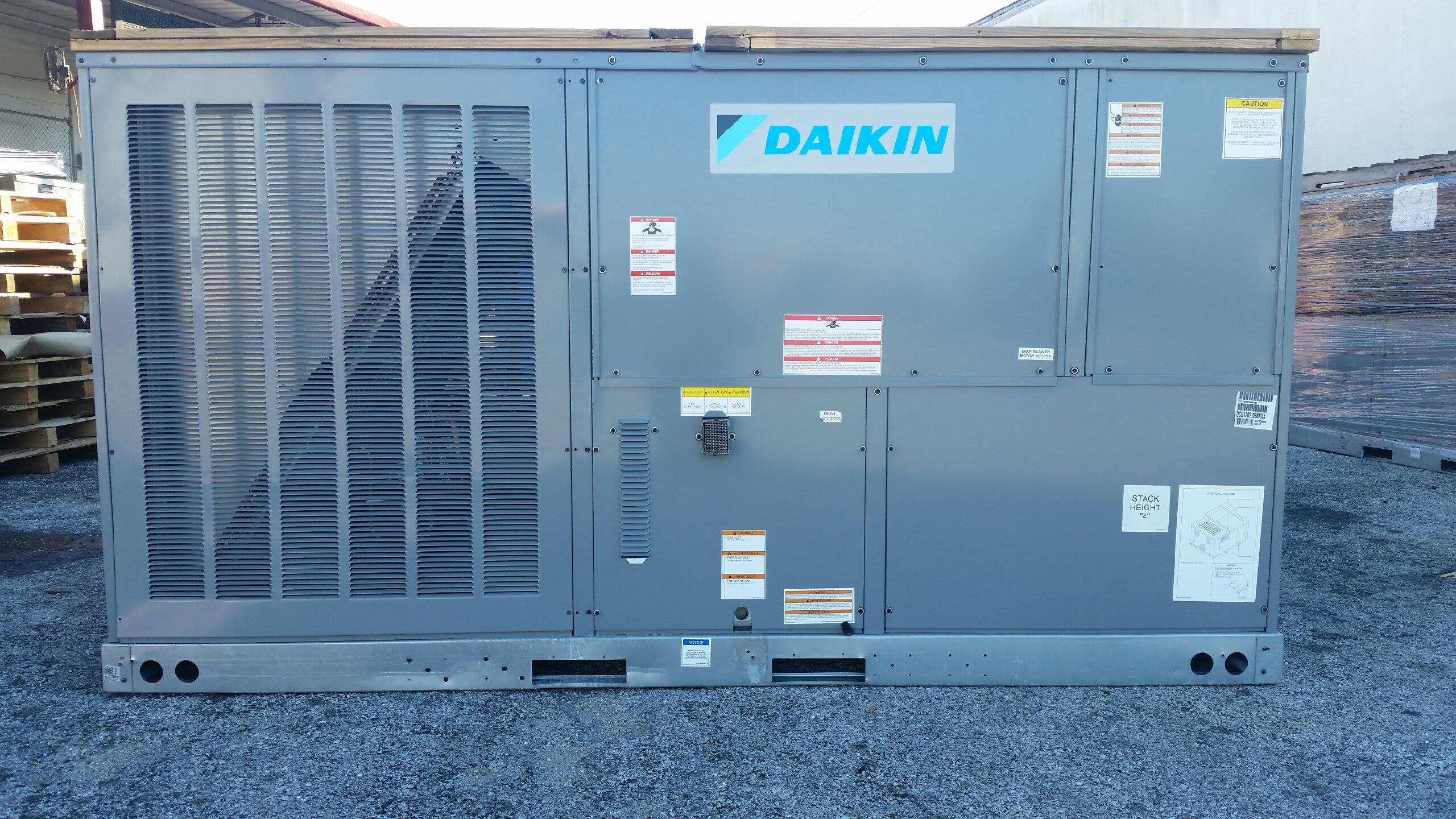 daikin split ac 1 5 ton wiring diagram onan generator starter 10 gas package unit 210k btu 208 230v or 460v 3