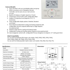 Wiring Diagram Ac Split Daikin 2 Pk Viper Alarm Wire Mini Wired Wall Controller Thermostat Brc1e73