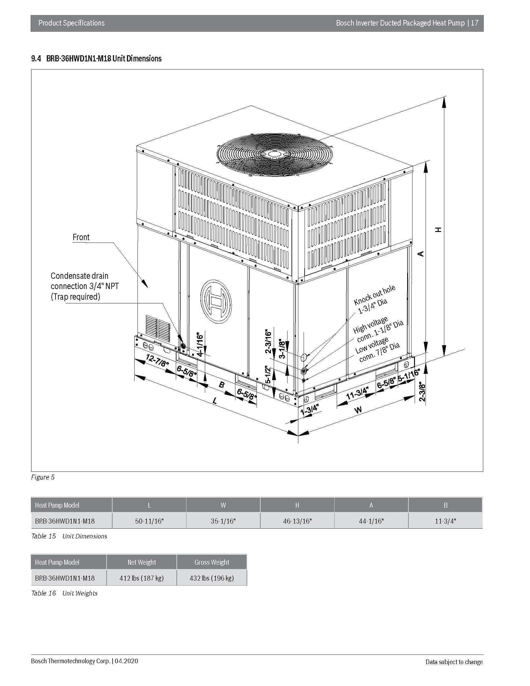3 Ton Bosch 18.5 SEER Inverter Compressor Heat Pump DOWN