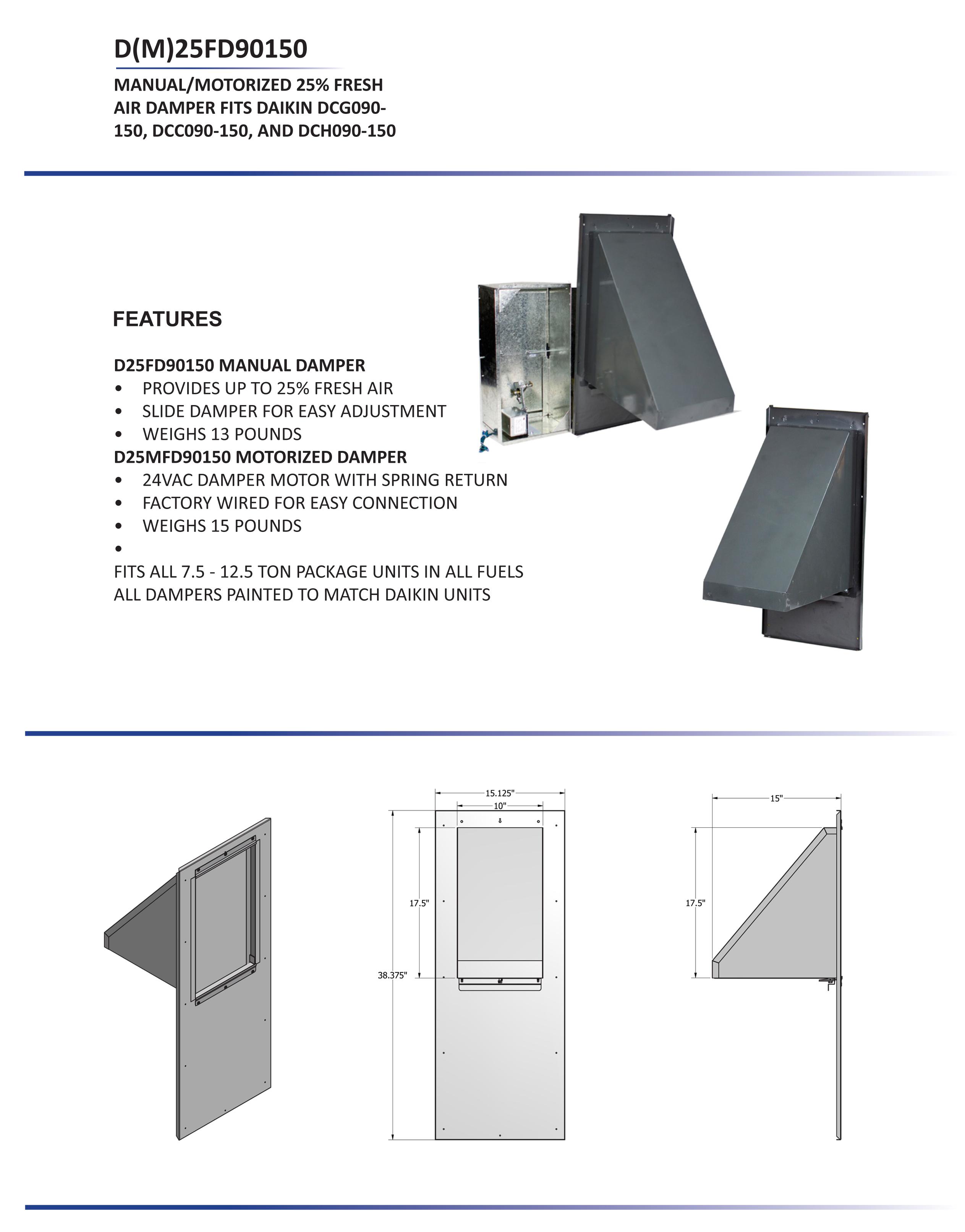 daikin split ac 1 5 ton wiring diagram gibson single pickup 7 12 25 manual fresh air damper dcc dcg