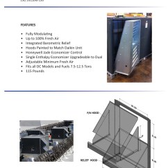 Daikin Split Ac 1 5 Ton Wiring Diagram Ford F250 7 12 Downflow Economizer Dcc Dcg Dch