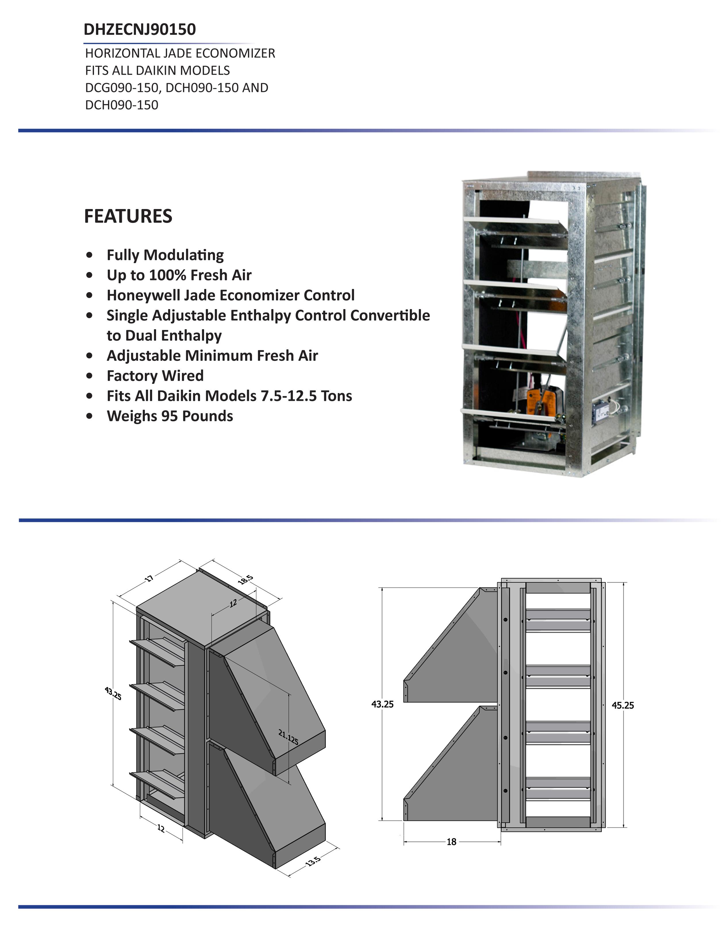 daikin split ac 1 5 ton wiring diagram mcdonnell miller low water cutoff 7 12 horizontal economizer dcc dcg dch