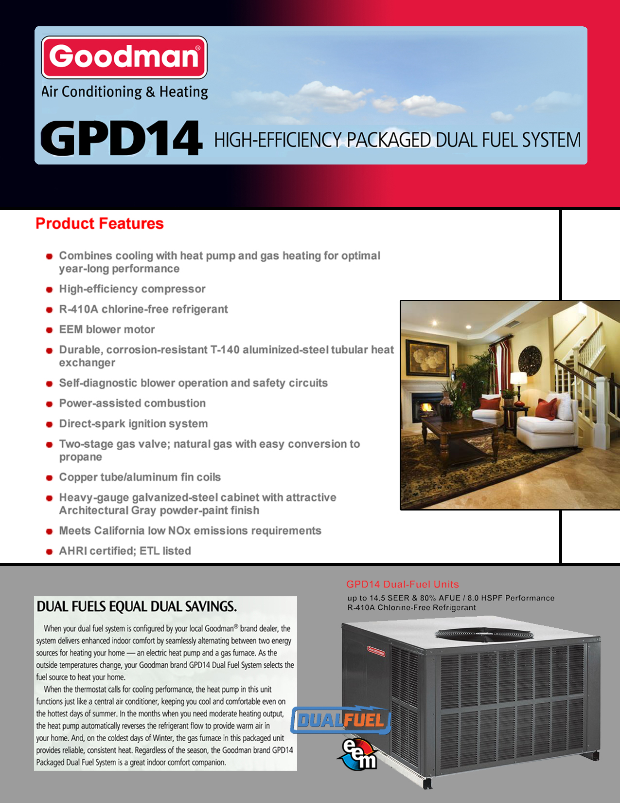 goodman 4 ton heat pump wiring diagram what is a grouped frequency 2 14 5 seer 60k btu gas package