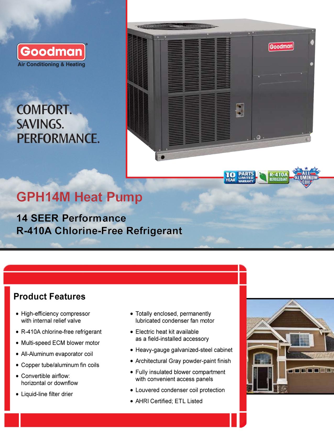 goodman 4 ton heat pump wiring diagram mitsubishi l300 alternator 13 seer 3