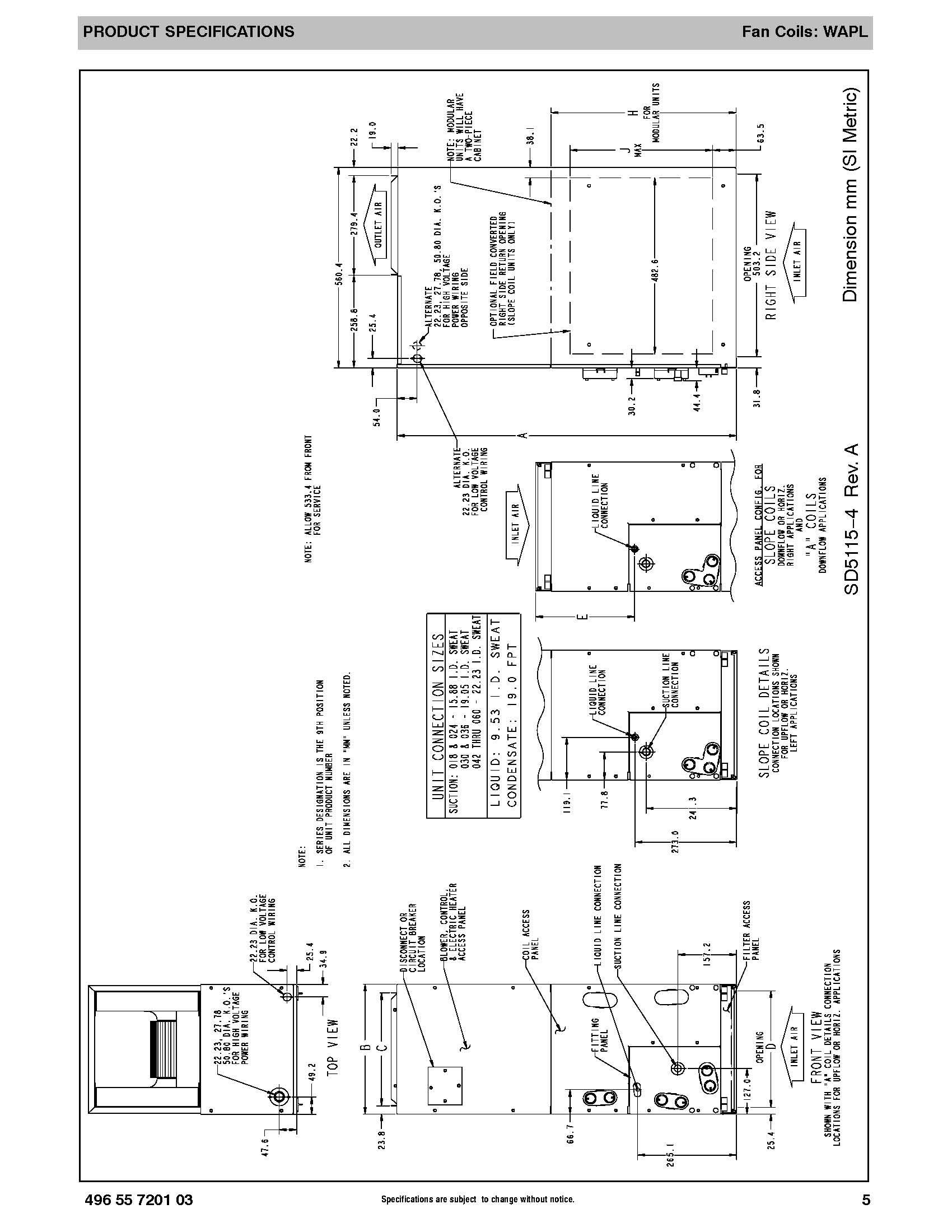 Grandaire 4 Ton ECM Motor Air Handler WAPL484A
