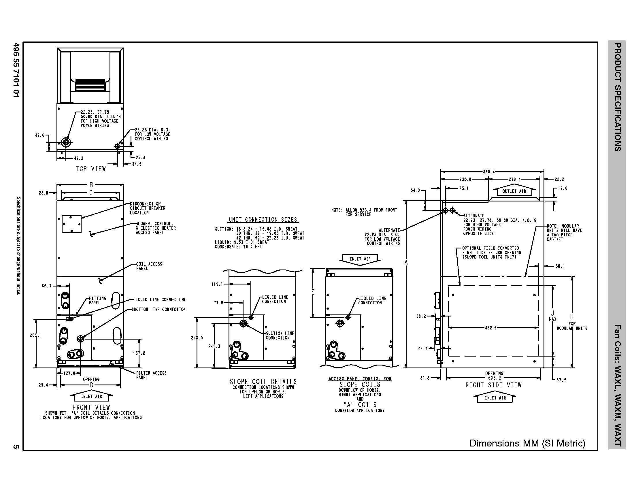 Grandaire 5 Ton Ecm Motor Txv Air Handler Waxl604a