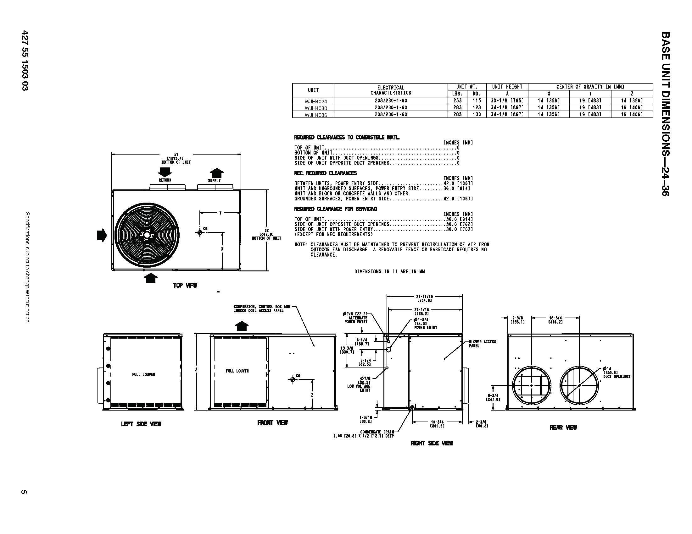 voltas package unit wiring diagram usb wire grandaire 2 ton 14 seer heat pump wjh424000ktp0a