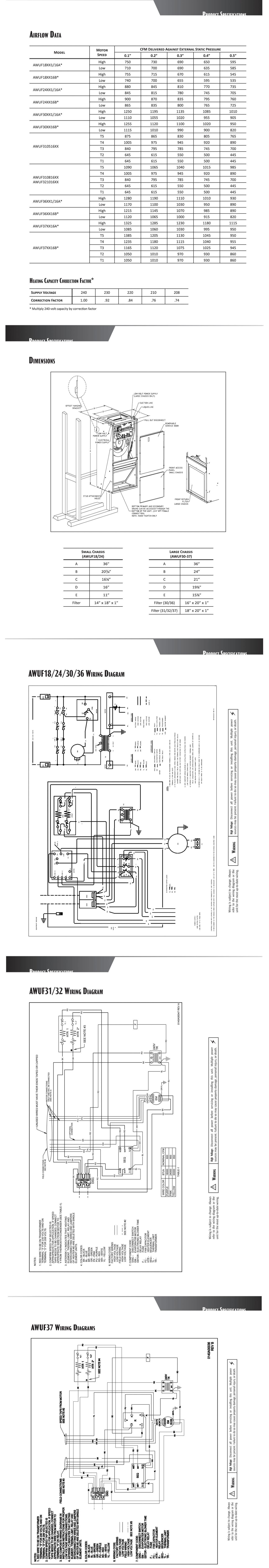 goodman awuf air handler wiring diagram ford zx2 serpentine belt 3 ton central indoor awuf36 16