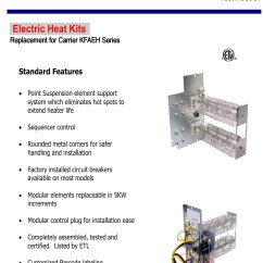 Carrier Wiring Diagram Air Handler Limitorque 5 Kw Heat Strip For Handlers Click Models
